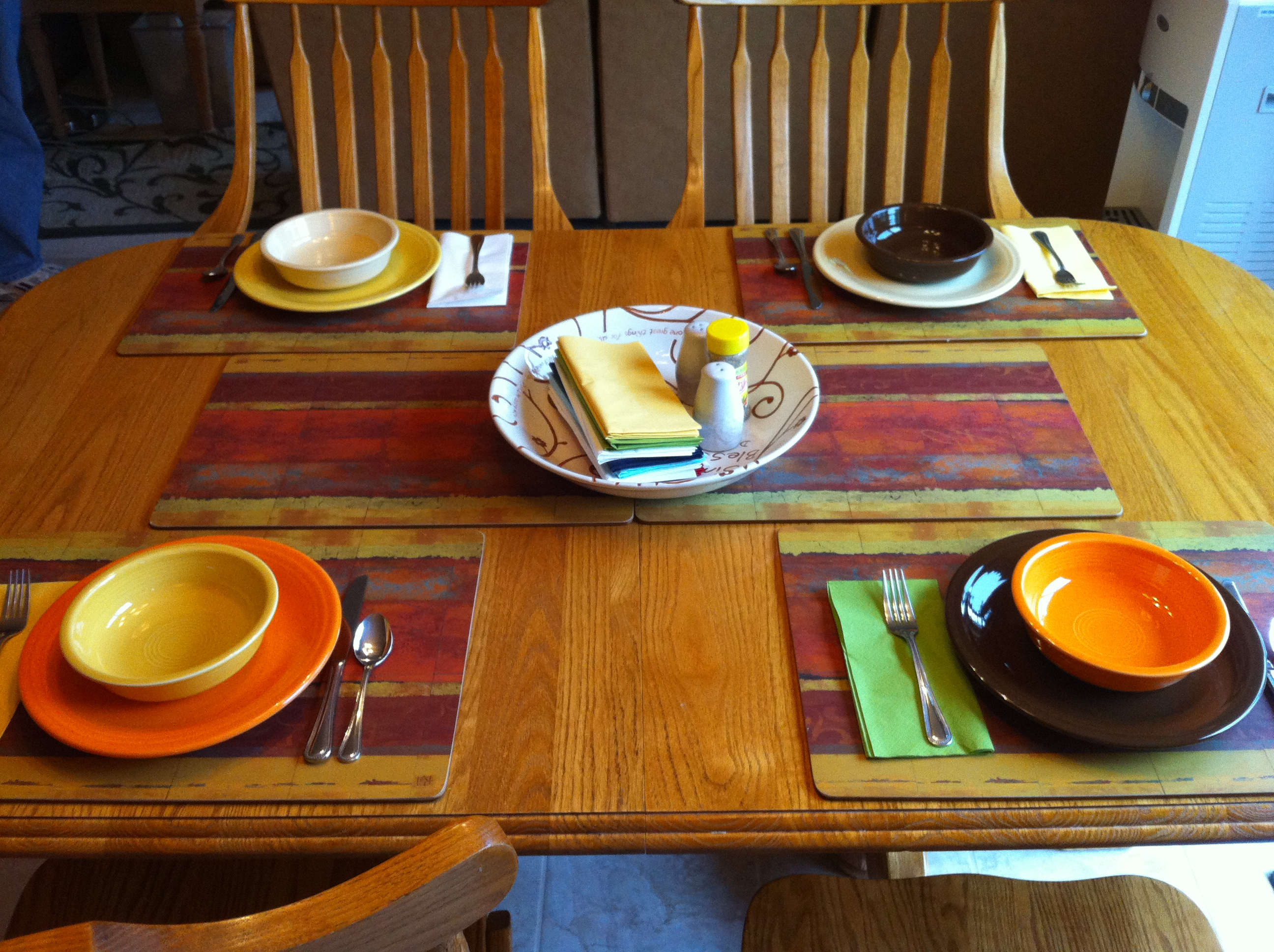 Placemats from Pier 1 Imports; Dinnerware from Fiesta & Deal Alert: Pier 1 Imports $10 off $10 Purchase - Kelly\u0027s Lucky You