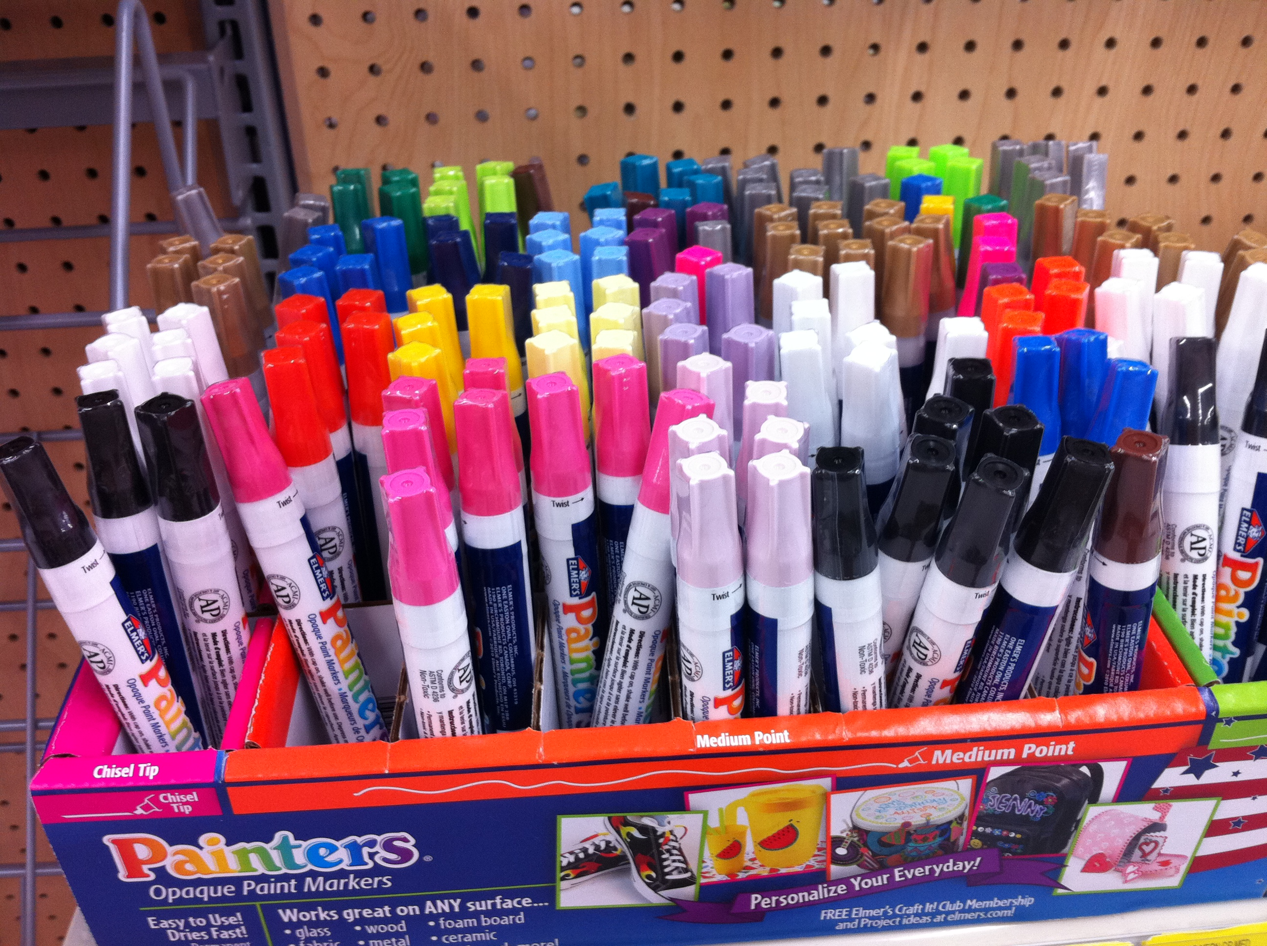 Paint pens for wood crafts - I Found Everything I Needed At Walmart In The Craft And Shoe Departments First I Looked For The Elmer S Painters Paint Markers And A Lovely Employee Helped