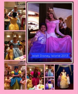 Collage of Princess Pics 8 x 10