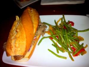 #DisneySMMoms Food Be Our Guest Beef Sandwich w Gr Beans
