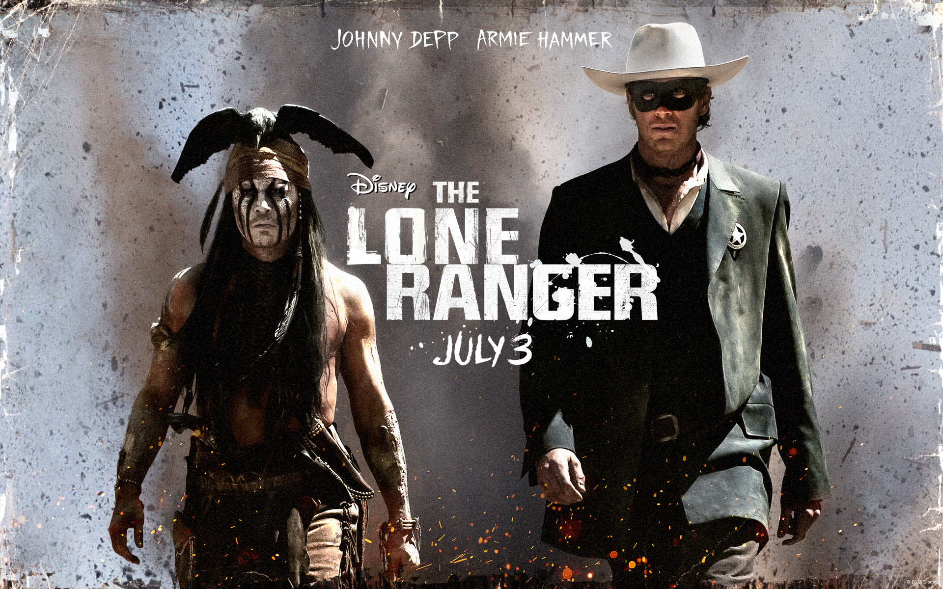 johnny depp falls and nearly trled while filming the lone ranger s lucky you