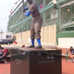 Ernie Banks Statue Outside of Wrigley Field - Lets Play Two