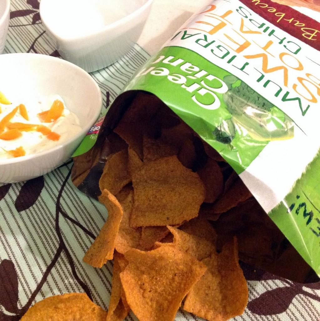 Green Giant Veggie Chips Bag Spilling Over