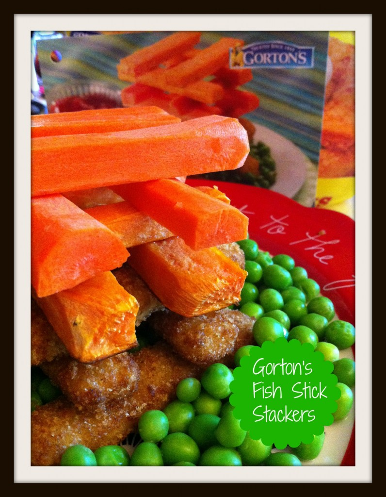 Gortons Seafood Fish Stick Stackers with Text