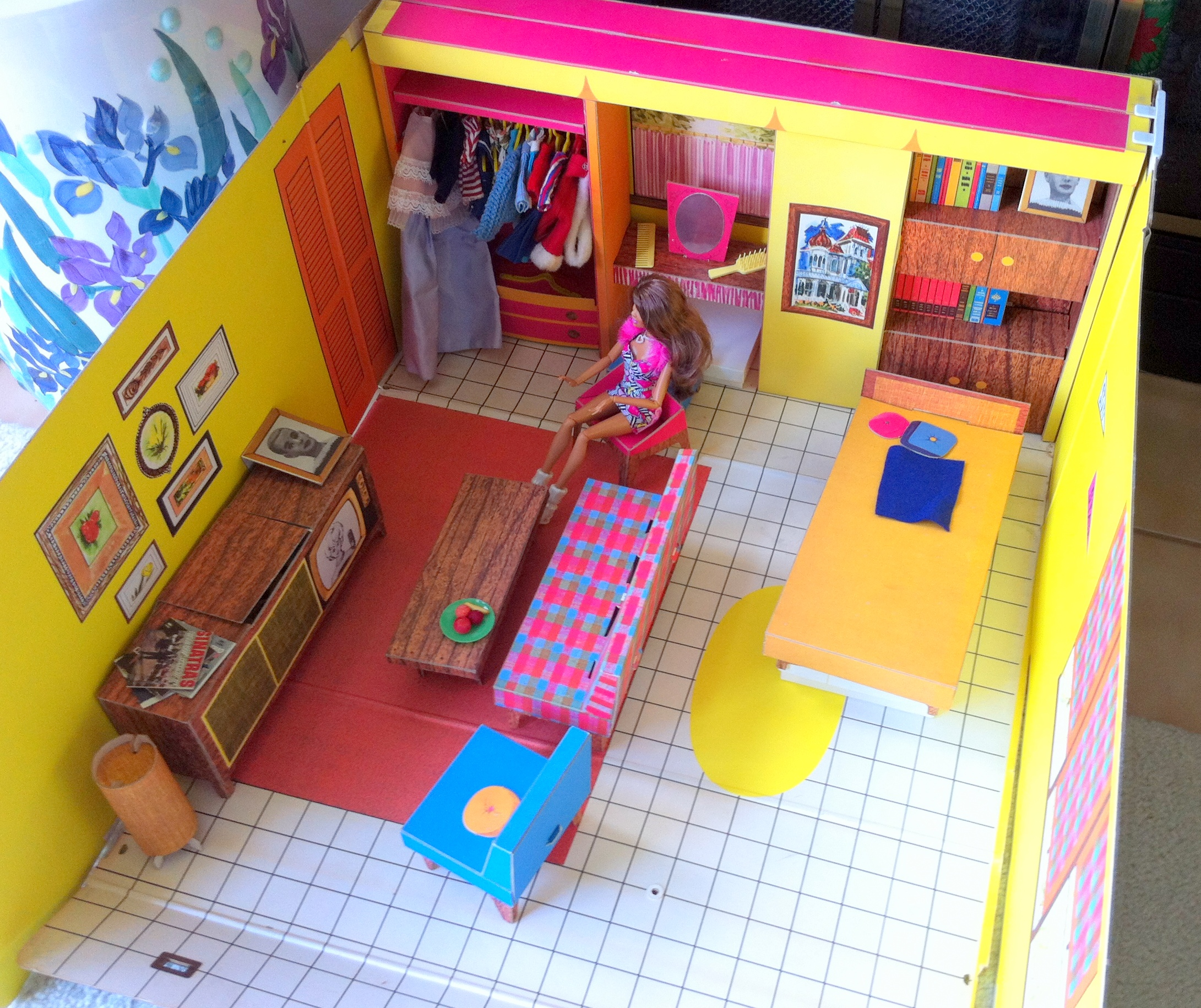 revealing the 2013 barbie dream house! 1960's versus 2013 - must