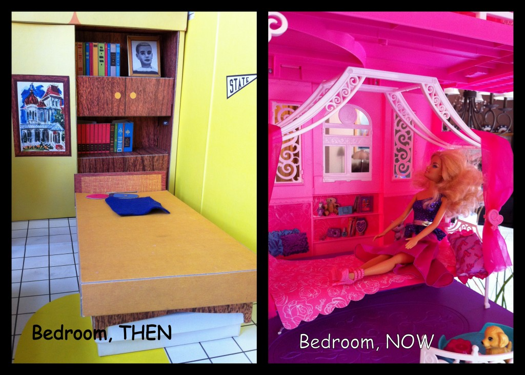 Revealing the 2013 barbie dream house 1960 39 s versus 2013 for Barbie dream house bedroom