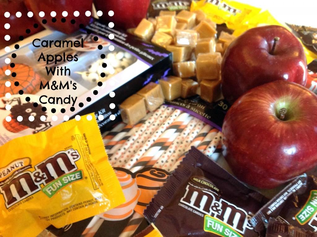 #CBias #SpookyCelebration Mars Candy Caramel Apples with M&M's Candy