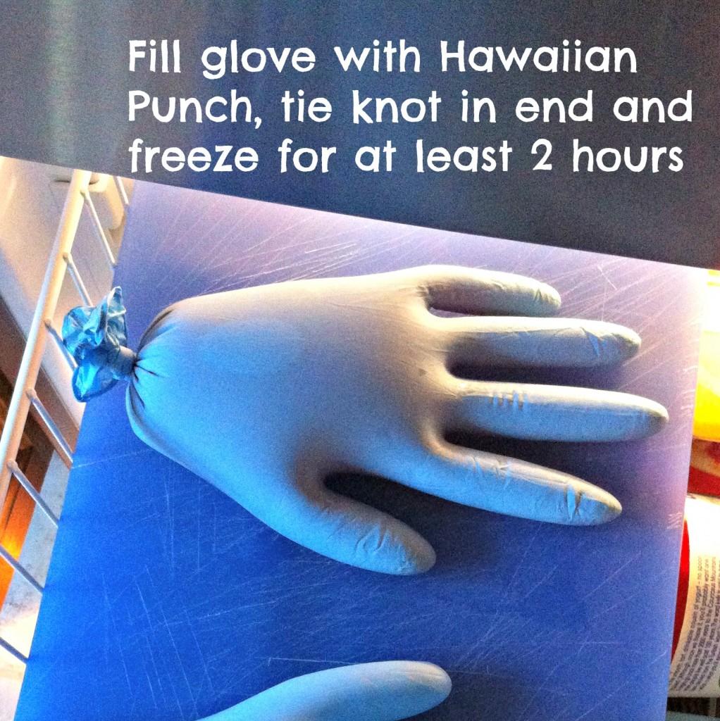 #Cbias #SpookyCelebration Hawaiian Punch Bloody Hand in Freezer w text