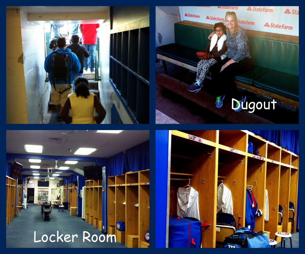 #PricelessChicago #MC Dugout and Locker Room Collage