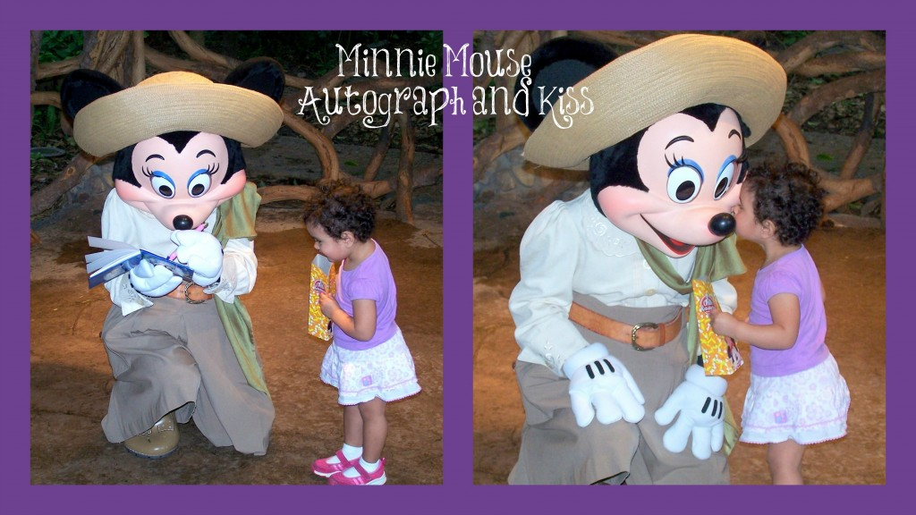 Minnie Mouse Autograph and Kiss with Text