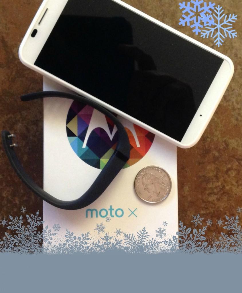 Moto X and Fitbit #SprintMom Snowflakes