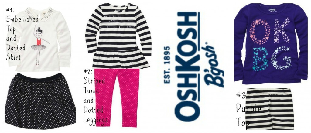 OshKosh B'gosh Outfits 1-3 with logo