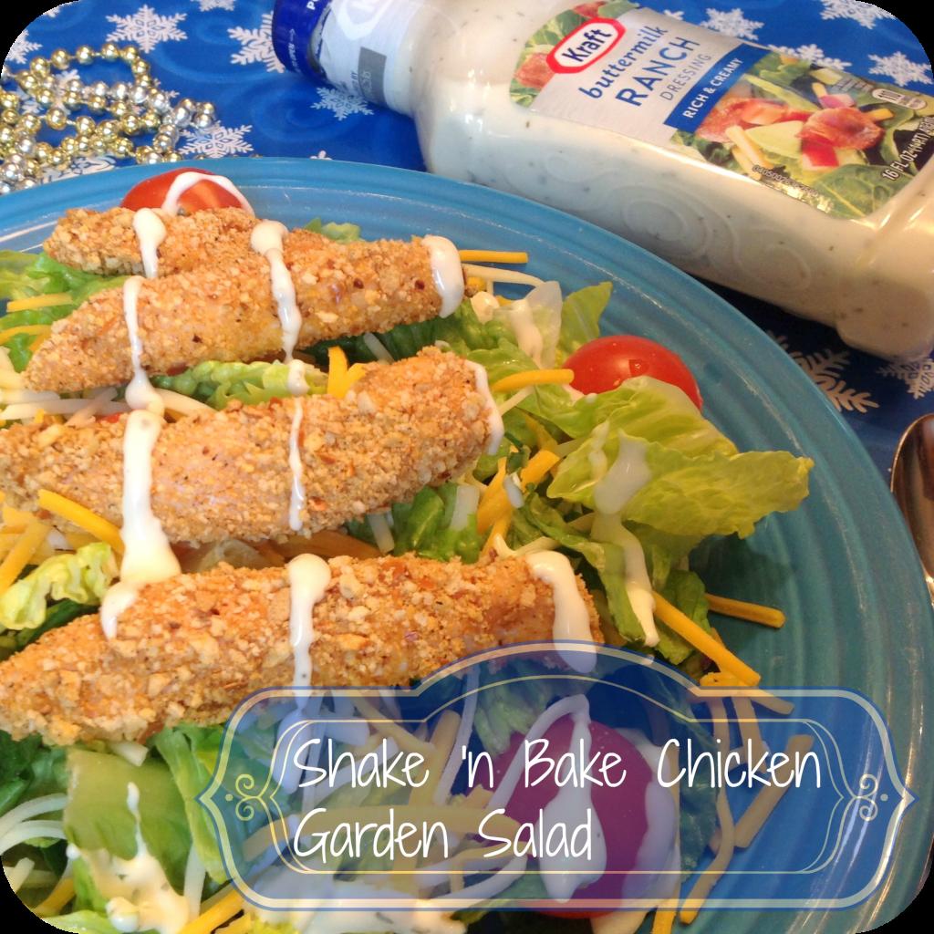 Shake n Bake Chicken Garden Salad #KraftEssentials #shop #cbias