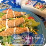 Shake n Bake Chicken Garden Salad #KraftEssentials #shop #cbias