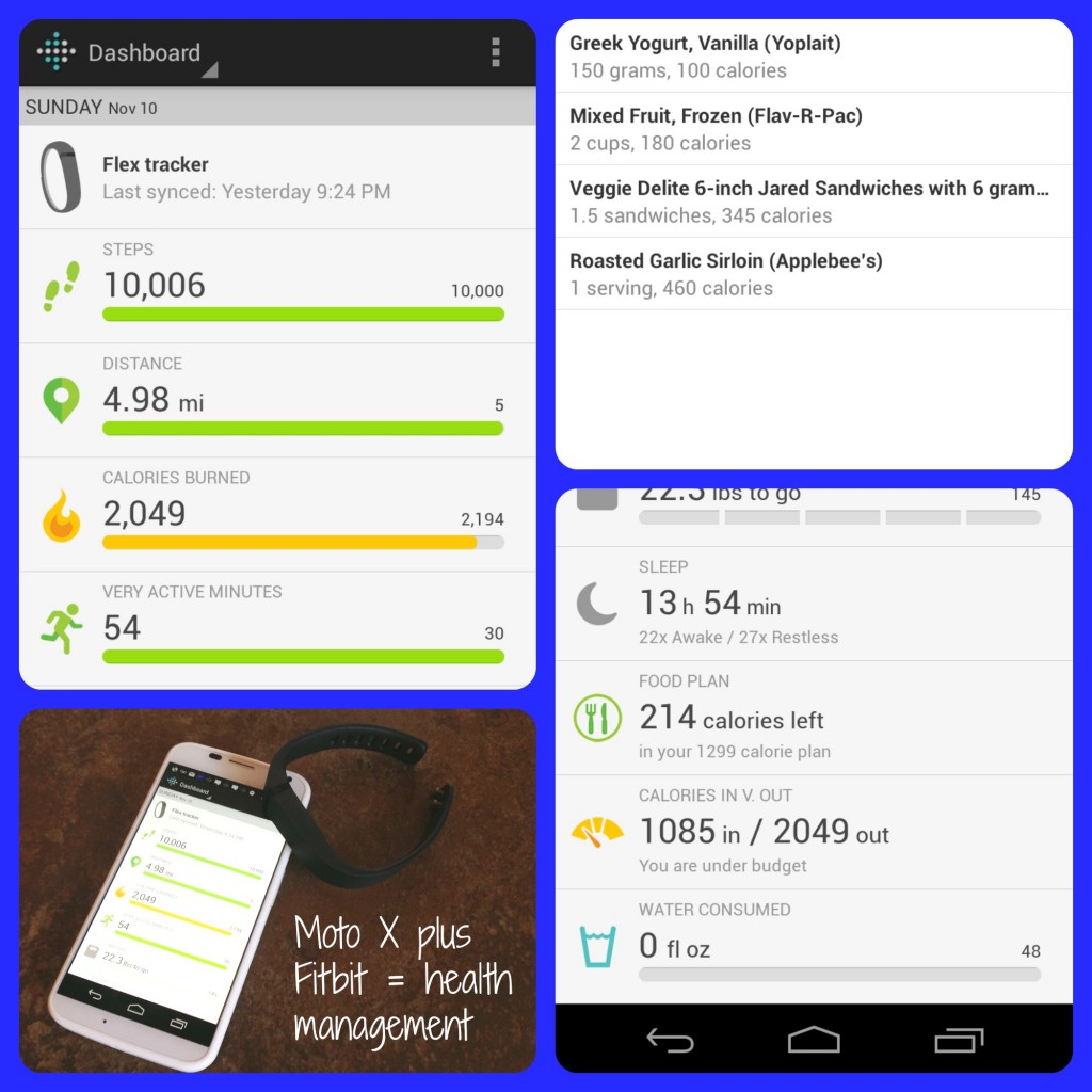 #SprintMom Moto X plus Fitbit Collage