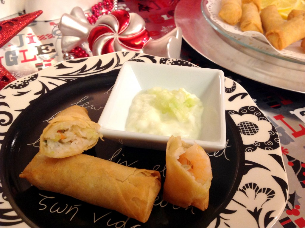 SeaPak-Holiday-Appetizers-#PaktheParty-#cbias-Spring-Rolls-Individual-Plate