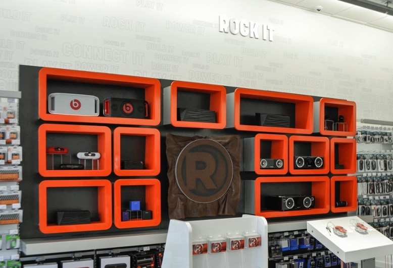 Speaker Wall at RadioShack