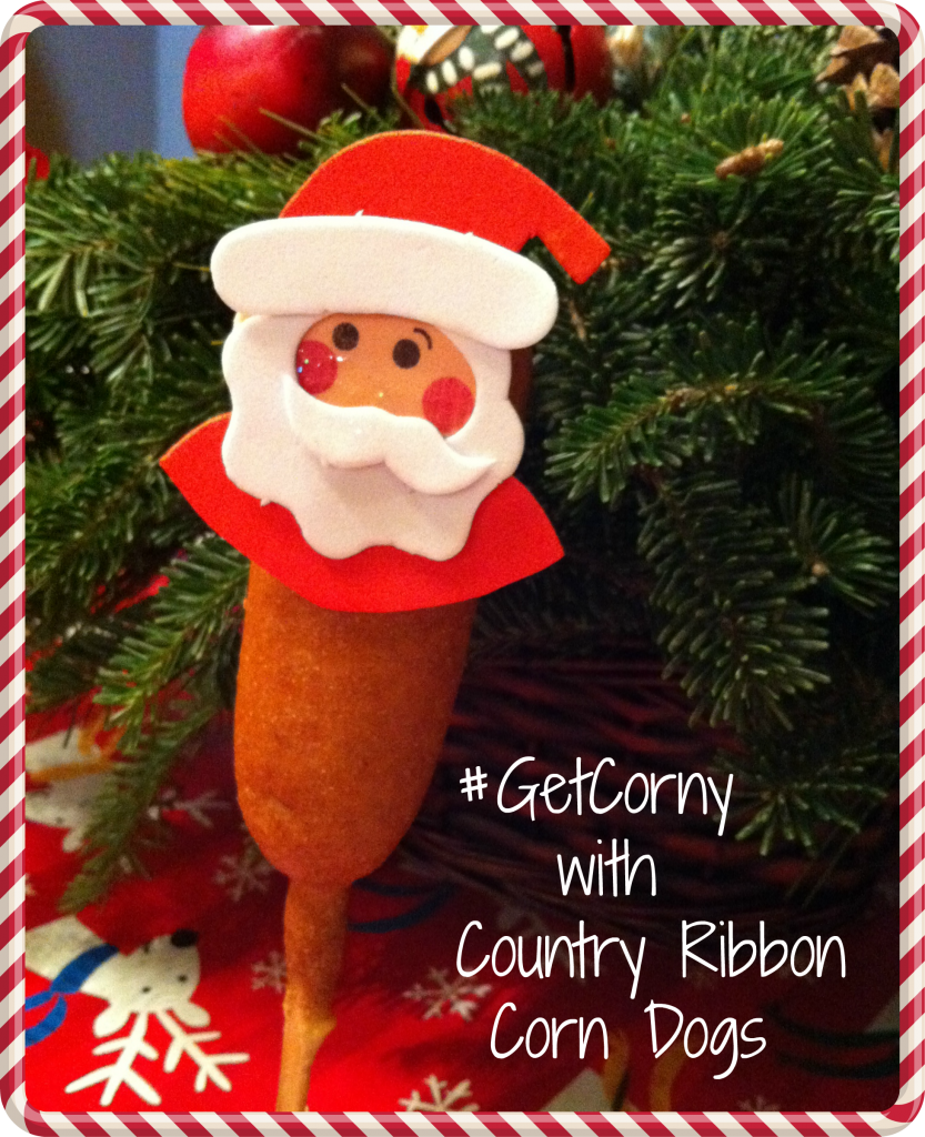 #ad-#GetCorny-Country-Ribbon-Corn-Dogs-#cbias-Santa-standing-frame