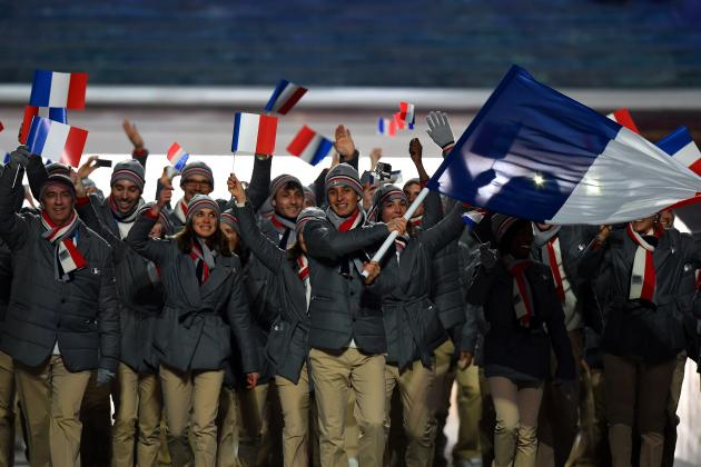 france at opening ceremonies sochi olympics