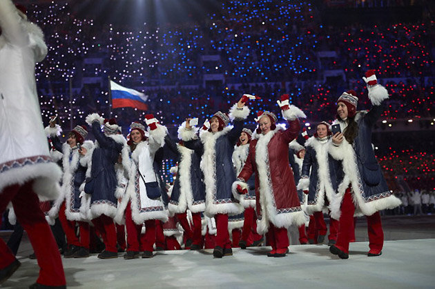 Sochi Olympics Russian Team Best Dressed Opening Ceremony