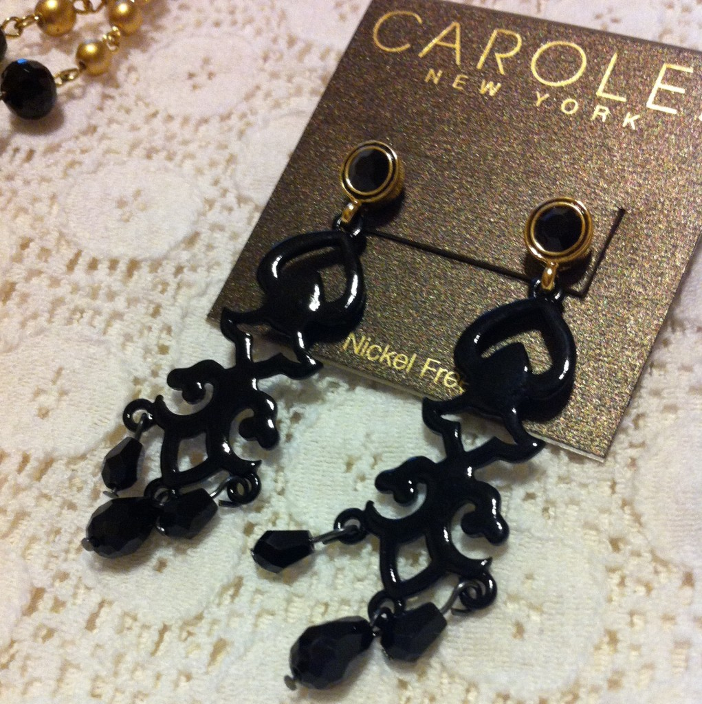 Carolee Chandelier Earrings on White