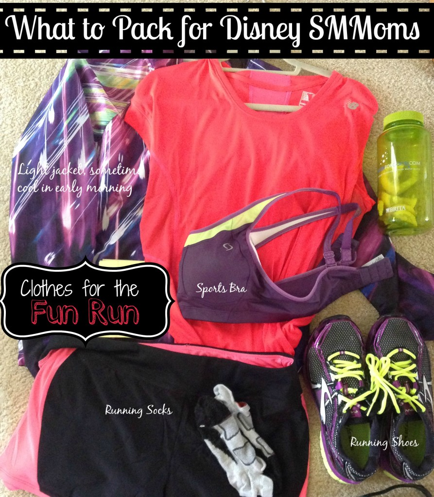 What to Pack for Disney SMMoms Fun Run