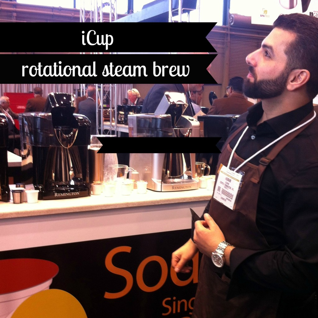 iCup rotational steam brew