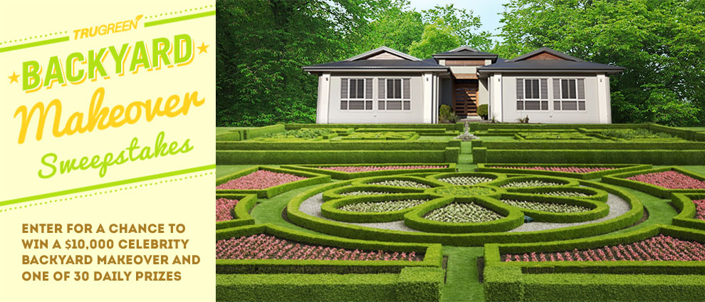 Backyard Makeover Sweepstakes :  to enter the TruGreen Backyard Makeover Sweepstakes ! Good luck