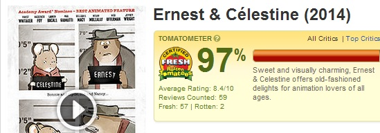 Ernest and Celestine Rotten Tomatoes Screen Shot