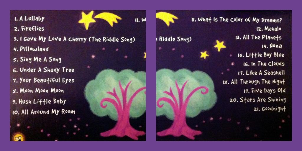 Laurie Berkner Lullabies Track Listing