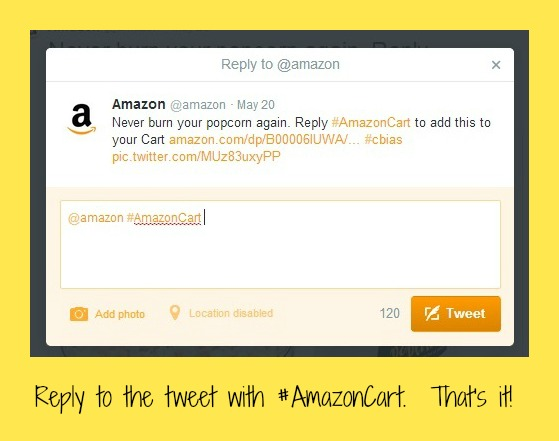 #AmazonCart #cbias Reply to tweet