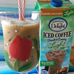 Glass of Iced Coffee International Delight w Text
