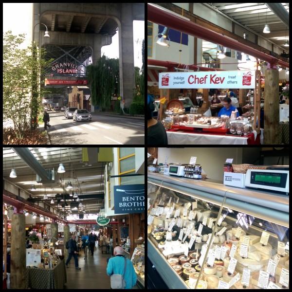 Granville Markets Vancouver Canada Collage