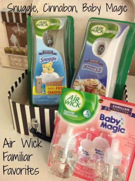 Air Wick-Familiar Favorites-Snuggle-Baby Magic-Cinnabon