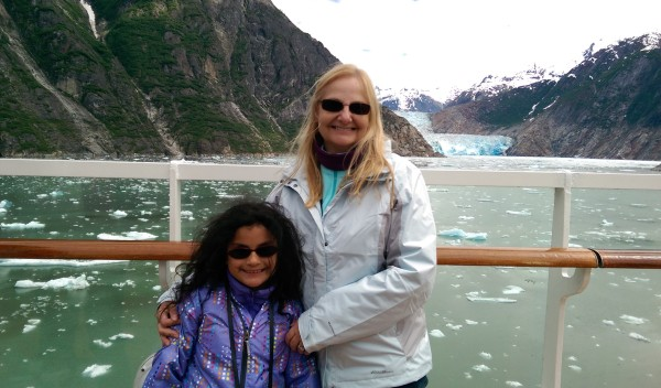 #DisneyCruise-#Alaska-Glacier-Mommy and Rosie