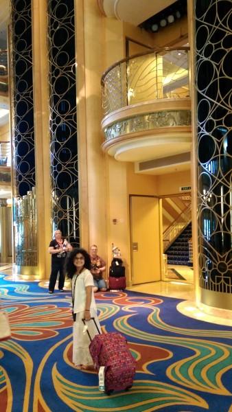 #DisneyCruise-#Alaska-Lobby Atrium-Disney Wonder