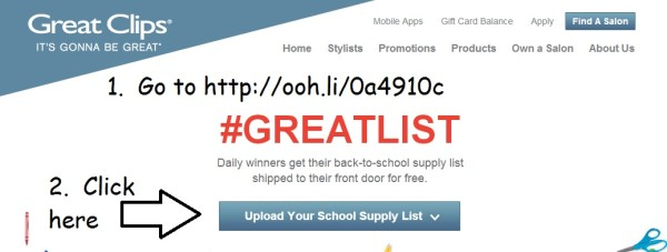 Great Clips-#GreatLists-Contest-Win Back to School Supplies