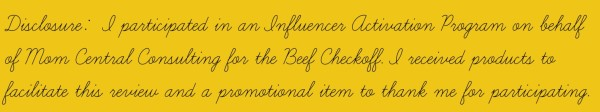 #BeefItsWhatsForDinner #BeefCheckOff #MC Disclosure