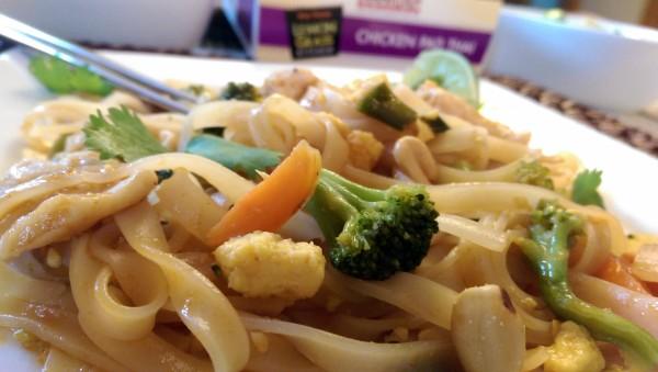 InnovAsian Lemongrass Kitchen Chicken Pad Thai Closeup