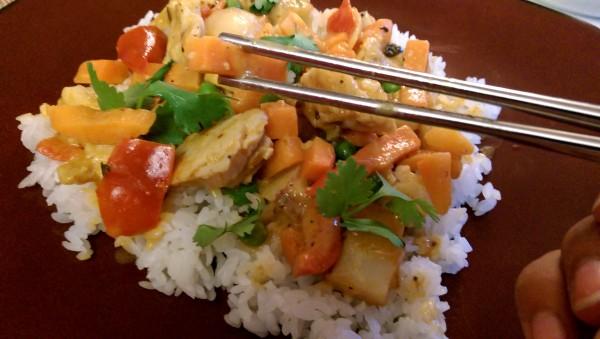 InnovAsian Lemongrass Kitchen Red Curry Chicken Want a Bit
