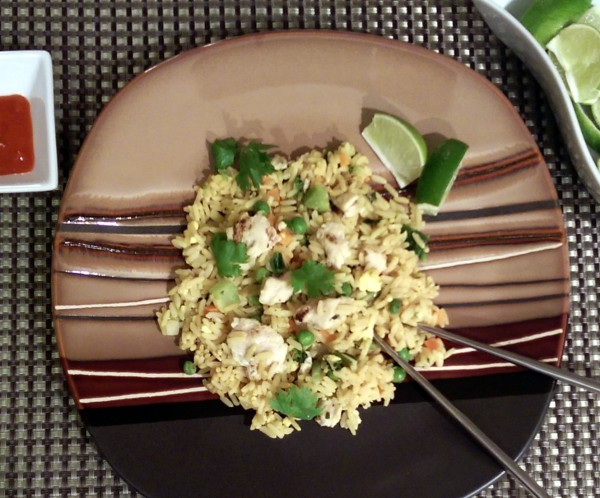 InnovAsian Thai Style Chicken Fried Rice Plated