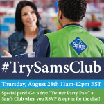 #TrySamsClub-Twitter-Chat-8-28-14