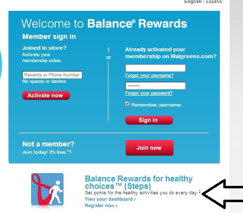 #cbias #Balance Rewards Screenshot Register for Steps