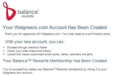 #cbias #Balance Rewards Screenshot Walgreens.com Account