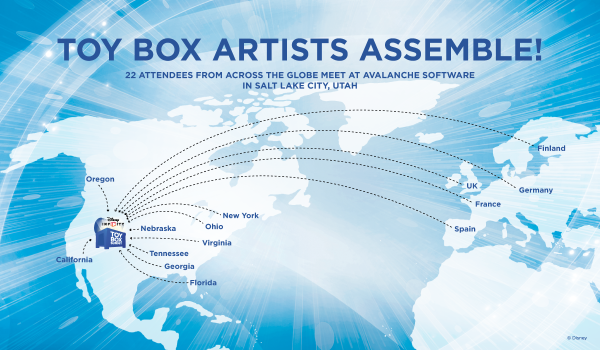toy box artists map
