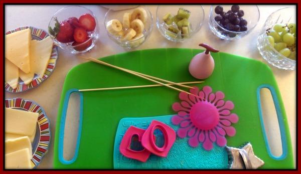#HavartiParty Arla Dofino Fruit Skewer SetUp Framed