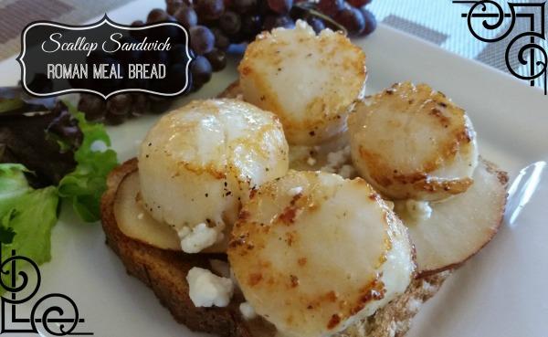 Roman Meal-#MC-Open Faced Scallop Sandwich-PM