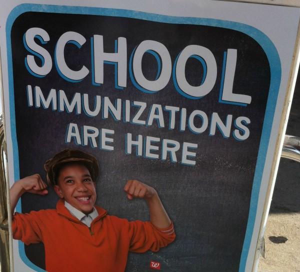 School Immunizations Sign #GetaShot #cbias #shop
