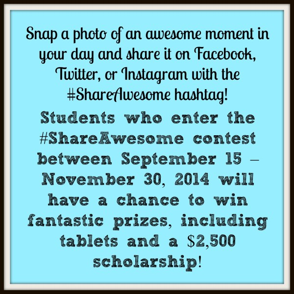 #ShareAwesome Call to Action