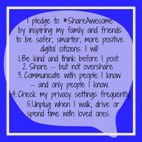 #ShareAwesome Pledge